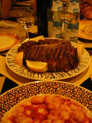 Florentine T-bone Steak. (c) Ristorante ZaZa