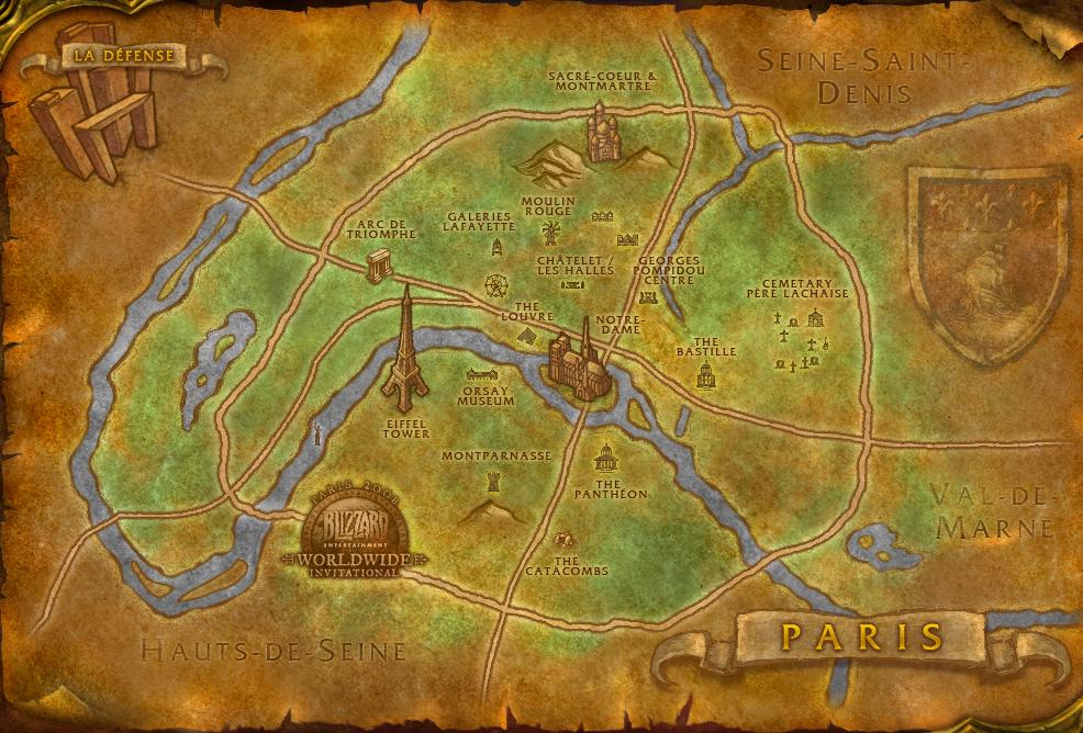 아제로스판 파리 지도