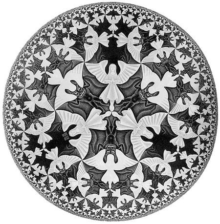 [화가 에셔(Escher)] 먼저 눈에 보이는 것은?