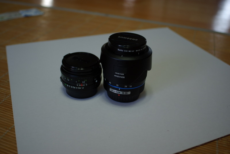 RIKENON P 1:1.7 50mm + D-XENON 18-55mm