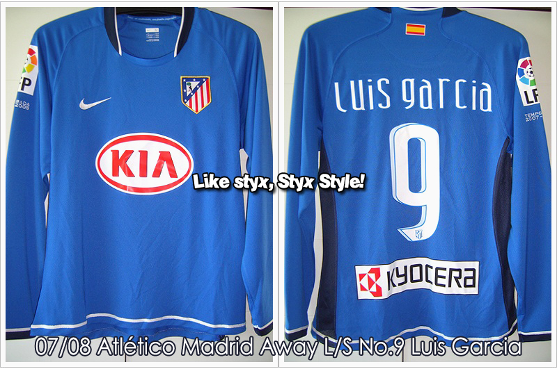 07/08 Atlético Madrid Away L/S No.9 Luis Garcia