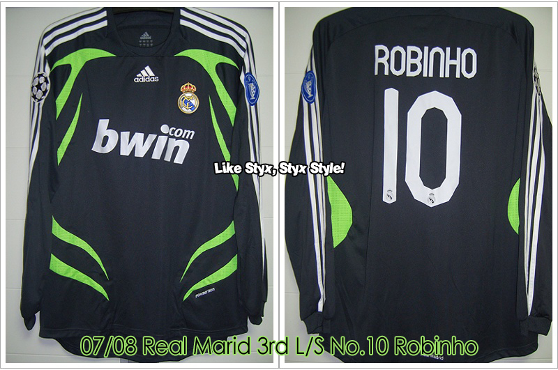 07/08 Real Madrid 3rd L/S No.10 Robinho - Match Issued for UCL