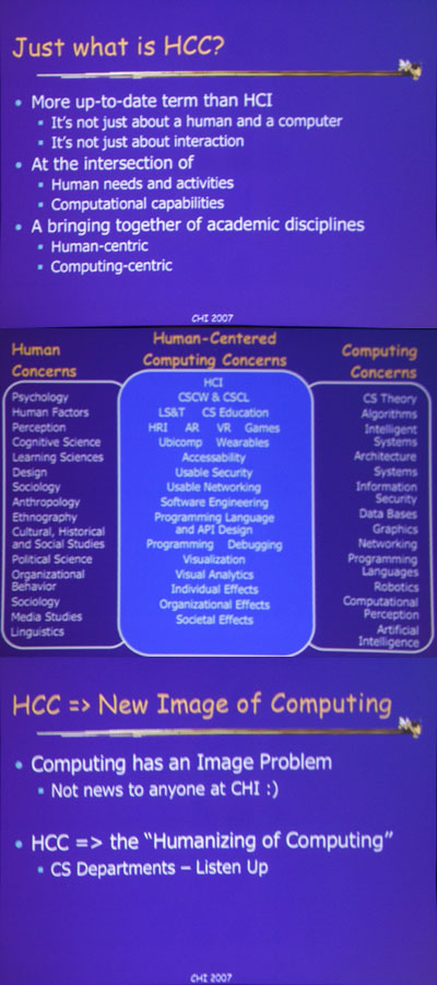 Slides from Foley's Plenary Speech at CHI 2007