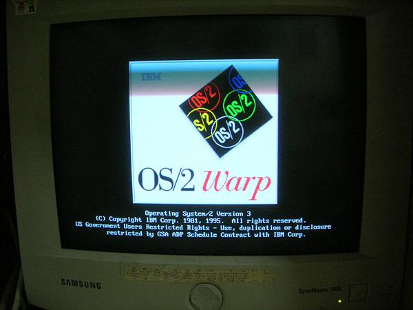 OS/2 warp 3 setup starting
