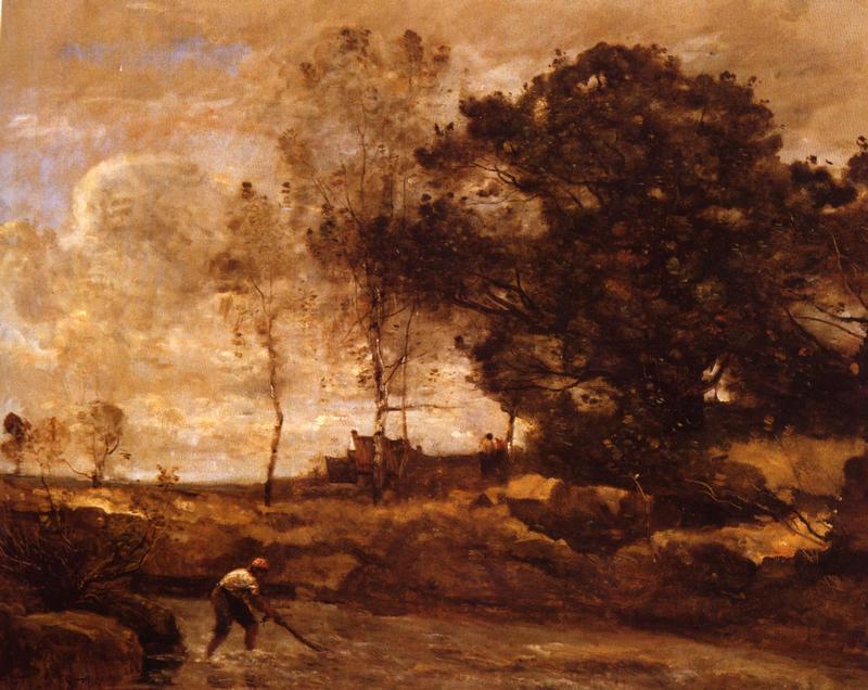 <Camile Corot, La Levee des filets, 1871, 66x82cm, Huile sur toile>