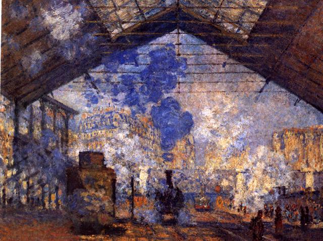 <Claud Monet, La Gare Saint-Lazare, 1877, 75.5x104dm, Huile sur toile>