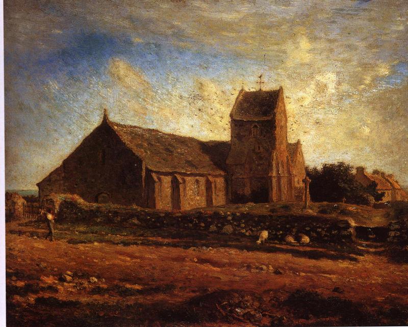 <Jean-Francois Millet, L'Eglise de Greville, 1871-1874, 60x73.4cm, Huile sur toile>