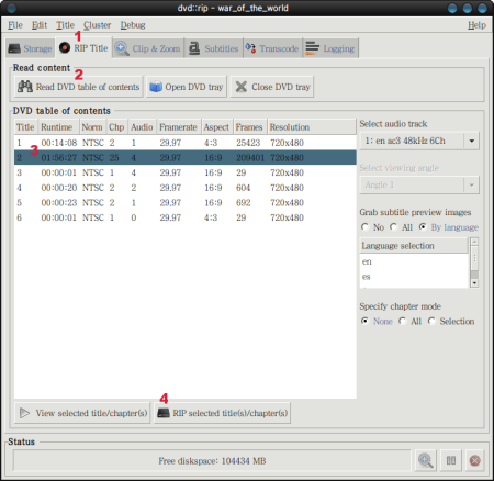 DVD에서 동영상을 추출해주는 'DVD::RIP' :: My Ubuntu